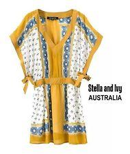 womens vintage boho top kaftan size 8 au new
