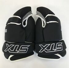 """New STX Sentry box lacrosse goalie gloves 15"""" black Lax indoor senior goal"""