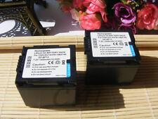 2X CGA-DU14 CGADU14 Battery for Panasonic PV-GS400 PV-GS500 GS50 GS50S GS55 new