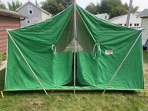VIntage  COLEMAN CANVAS TENT AMERICAN HERITAGE 11 x 8 Great Condition 8491B825