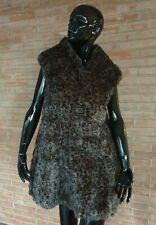 gilet pelliccia RAT MOUSQUET leopardato Violanti fur vest fourrure jacket pelz