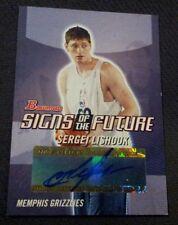 Autographed Sergei Lishouk 2004-05 Bowman SOTF Card #SOF-SL Memphis Grizzlies