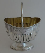 Antique Edwardian solid silver Sheffield 1904 petty sugar basket - Walker & Hall