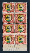 Switzerland Zumstein J55 used block of 8