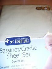 New living textiles Apple Green 2 Piece Cradle Bassinet Sheet Set Baby