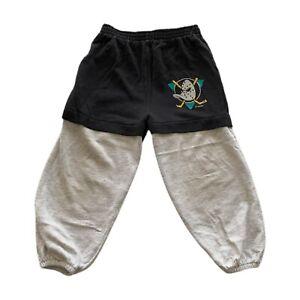 VTG 90s Disney Mighty Ducks NHL Hockey Gray Logo Sweatshirt Boys Size 5/6