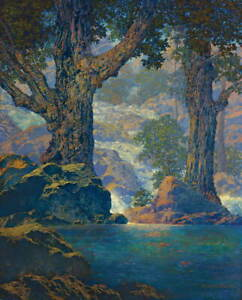 Maxfield Parrish Cascades Poster Reproduction Paintings Giclee Canvas Print