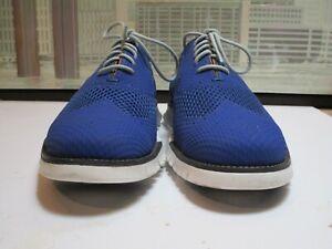 Men's Cole Haan Zero Grand Stitchlite Blue Short Wingtips Size 12 M