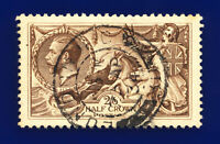 1918 SG414 2s6d Chocolate-Brown Bradbury Wilkinson N65(3) London GU Cat £75 cgio