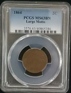 1864 Two Cent PCGS MS63BN