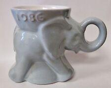 Frankoma Elephant 1986 Gop Convention Republican Party Light Blue Coffee Mug
