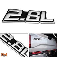 """""""2.8L"""" Polished Metal 3D Decal Silver&Black Emblem For Mercedes/GMC/Chevrolet"""