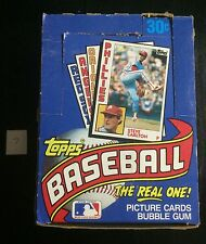 1984 Topps Baseball Wax Box with 36 Unopened Packs
