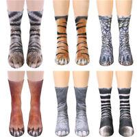Funny 3D Printed Animal Paw Crew Socks Women Men Cotton Adult Kid Long Socks wow