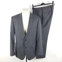 Hugo Boss Anzug The James3/Sharp5_HM Herren Gr. 50 W33 L30 Grau Super 100 Wolle