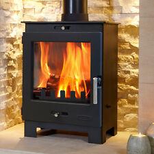 4.9kw Defra Approved Flavel Arundel Modern Multifuel Wood Burning Log Stove