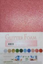 10 FOGLI di foam glitterato A4 rosa pastello spessore 1,7 mm MOOSGUMMI per fi...