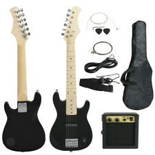 "Black 30"" Electric Guitar for Kids Starters Training W/ Case, Amp & Strap"