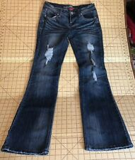 Almost Famous Jeans Distressed Bootcut Stretch Womens Size 5 Preowned