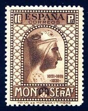 ✔️★★ EDIFIL 648 - CENTENARIO MONTSERRAT - 10 Pts. SIN FIJASELLO LUJO (+1.725€)★★