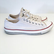 Converse All Star Mens US 9 Womens 11 Chuck Taylor Shoes Sneakers White Red Blue
