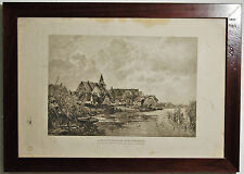 Photogravure Engraving, A Dutch Village Nieuwekerk From Painting By G. Shonleber