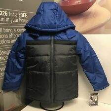 KC-Tech Boys Winter Jacket Cobalt Blue & Gunmetal Gray Size Youth Small (8) NWT