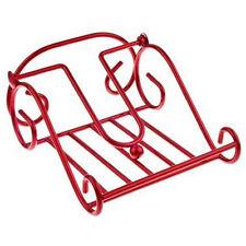 Napkin Serviette Holder, Scroll Design, Metal, Red, Kitchen, Picnic, Party, New
