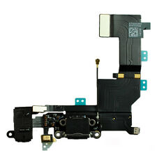 iPhone 5S USB Ladebuchse Dock Connector Audio Jack Mikrofon Flex Kabel schwarz