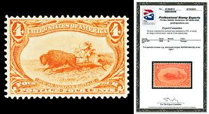 Scott 287 1898 4c Trans-Mississippi Mint VF LH Cat $110 Reperforated w/ PSE CERT