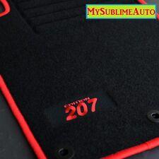 Tapis De Sol Peugeot 207 207sw Sw Depuis 2006 Velours Edition Logo Brodé NEUFS