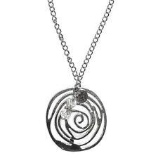Rear View Mirror Charm - Hanging Ornament - Suncatcher (Silver Swirl)