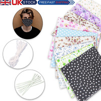 DIY Face Mask Kit Handmade Cotton Covering Reusable Washable for Adults or Kids