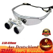 Dental Surgical Binocular Loupes Glasses Lens Magnifier 3.5X Dentist 420mm