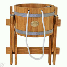 23L / 6 Gallons OAK bucket for Saunas, Russian bath, Extremely refreshing shower