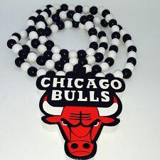 Chicago Bulls en Bois Pendentif Kette Chapelet Collier Chaîne Catena Collana