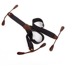 Men Women's Unisex Suspender Adjustable Braces Button Holes Coffee BD723