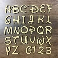Wooden Disney Letters A-Z Full Alphabet & Numbers Embellishments Decoupage Craft