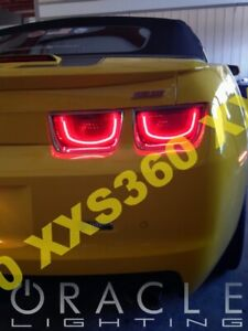 ORACLE Chevrolet Camaro 10-13 RED LED Tail Light Halo RINGS Afterburner 2.0