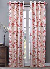 "Luxury Printed Window Curtain Panel w 8 Bronze color Grommet, 54"" X 84"" Jennifer"