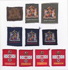 SCOUTS OF BRITISH / UNITED KINGDOM - UK SCOUT BIRMINGHAM COUNTY BADGE (10 VAR)