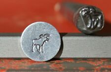 SUPPLY GUY 7mm Moose Metal Punch Design Stamp SGK-25, Made in the USA
