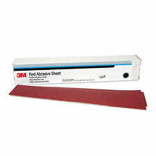 "3M 01181 Hookit Red 25 Sheets Long Board Sand Paper 80 Grit 2"" 3/4 x 16"" 1/2"