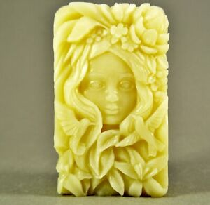 GREEN LADY SILICONE MOLD soap wax resin plaster clay BATH BOMB MOTHER NATURE