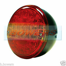 12V/24V LED REAR ROUND HAMBURGER TAIL LAMP LIGHT LORRY TRUCK CAR VAN TRAILER