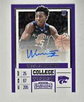 2017-18 Panini Contenders Draft Picks College Ticket Auto #91 Wesley Iwundu RC