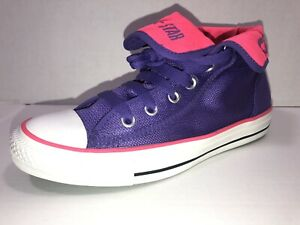 Chuck Taylor Textile Hi~Top Sneakers Purple and Pink Size 5 Women