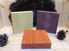 3-Turkey Pot call Turning Blanks Premium Yellowheart-Purpleheart-Padauk