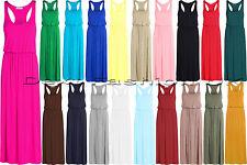 Women's Viscose Full Length Sleeveless Dresses Plus Size