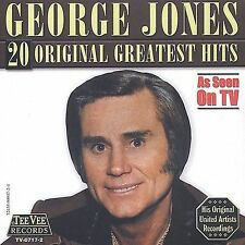 20 Original Greatest Hits by George Jones (CD, Feb-2004, Teevee Records)